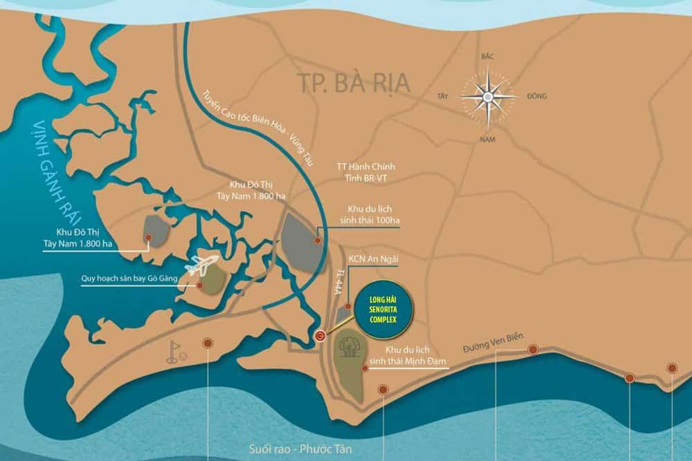 Vị trí dự án Senorita Complex Long Hải