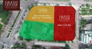 Vị trí các block dự án Grand Center