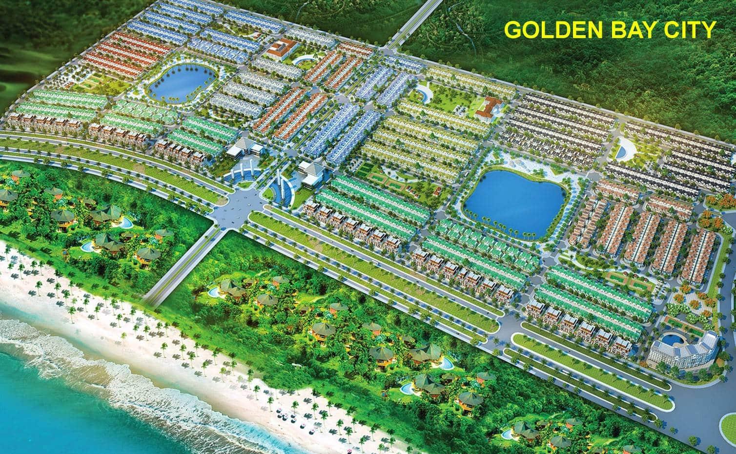 Phối cảnh tổng thể Khu Đô thị Golden Bay City Cam Ranh của tập đoàn Hưng Thịnh Corp