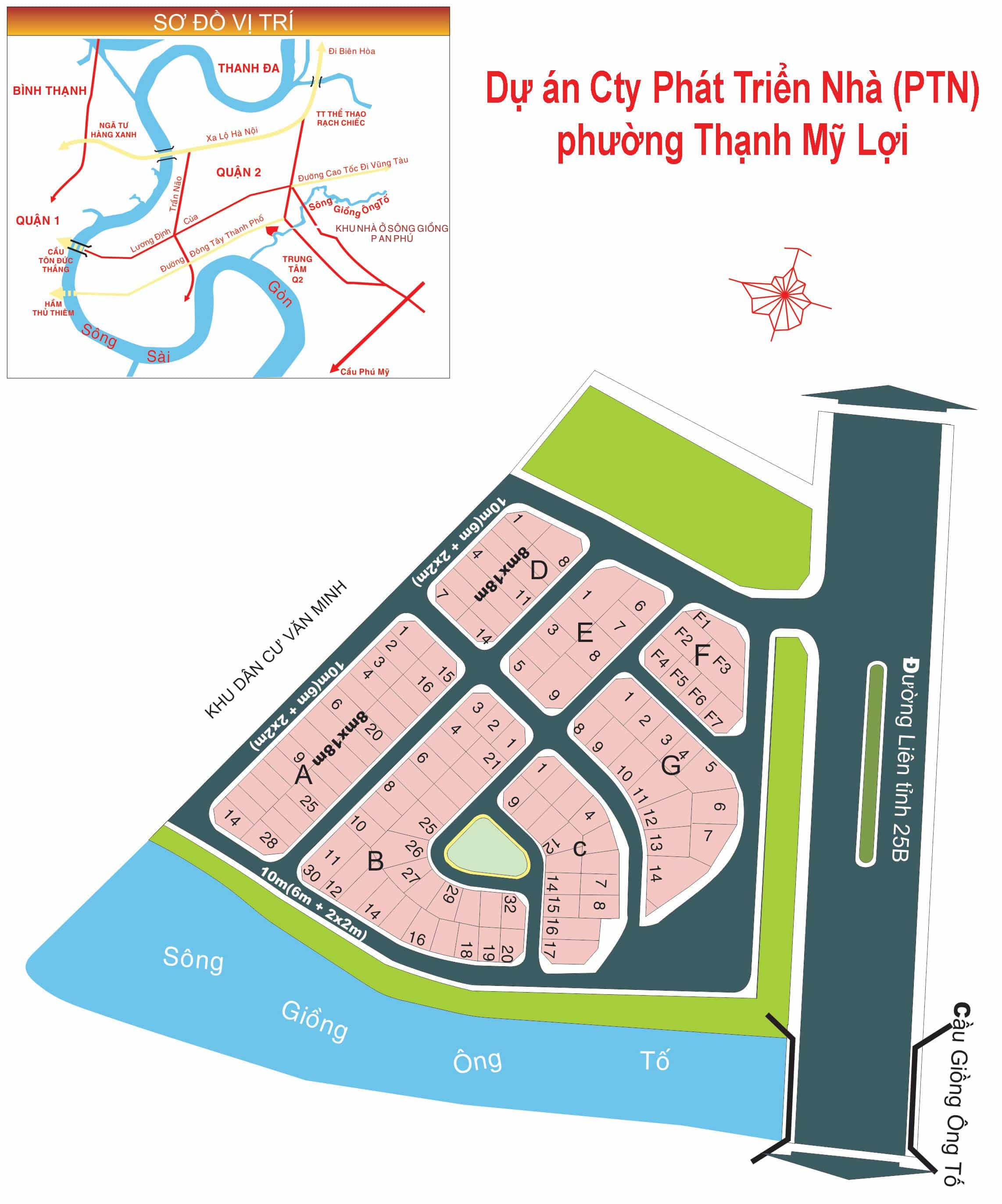 Bản đồ Dự án Cty Phát Triển Nhà phường Thạnh Mỹ Lợi