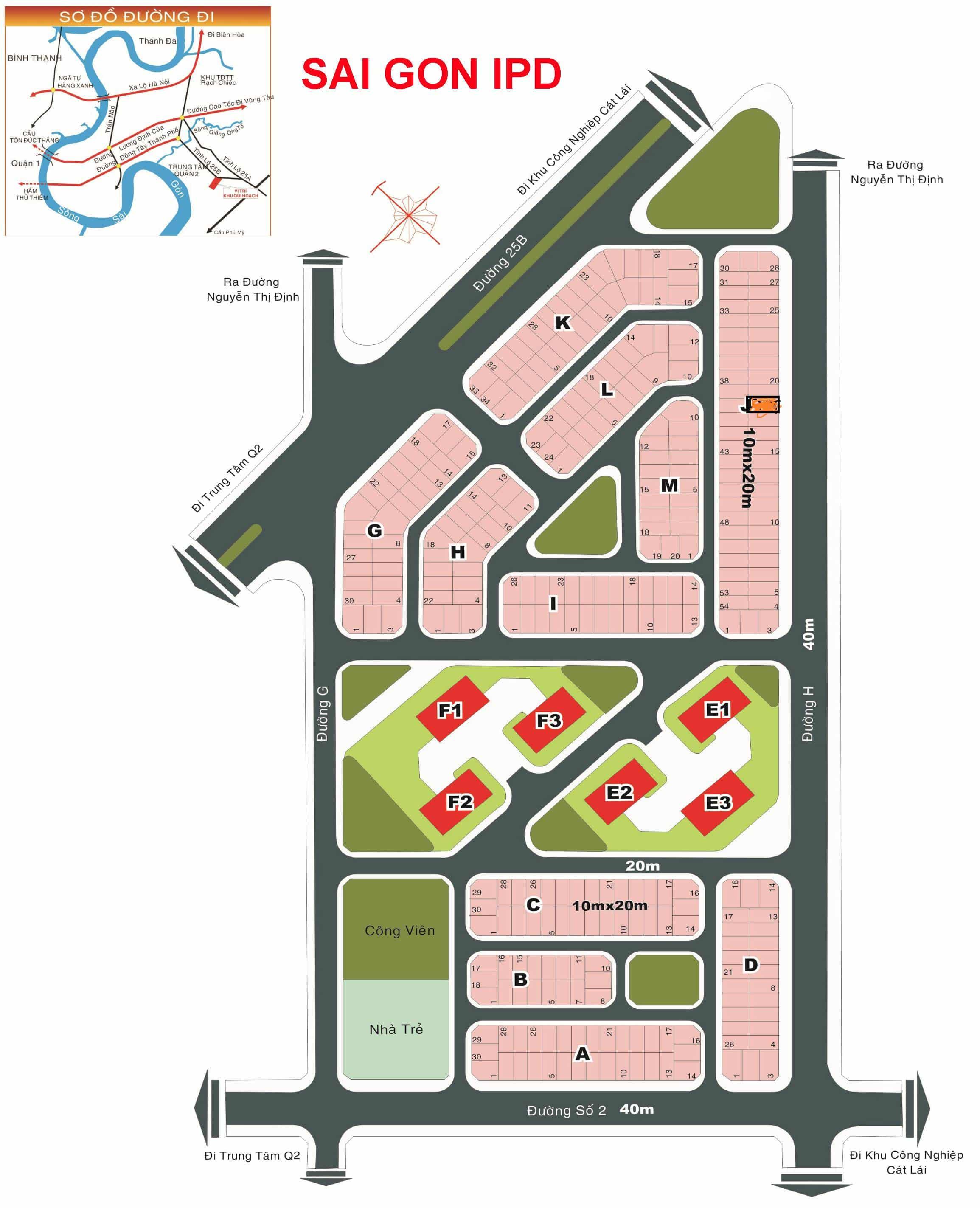 Bản đồ Dự án Sài Gòn IPD phường Thạnh Mỹ Lợi