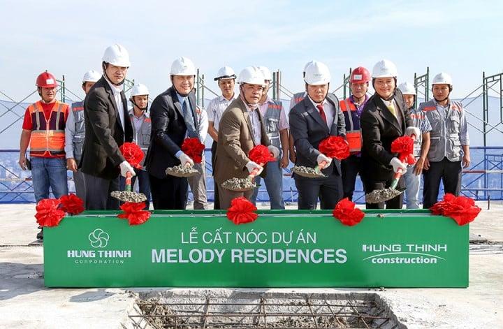 Chào mừng lễ cất nóc dự án căn hộ Melody Residences Âu Cơ
