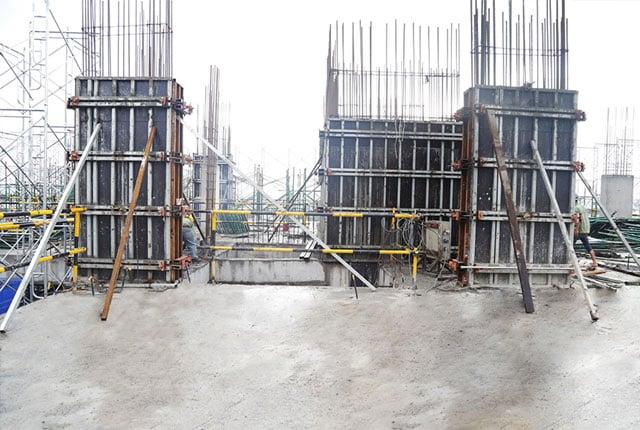 Thi công cột sàn tầng 12 - Block A.