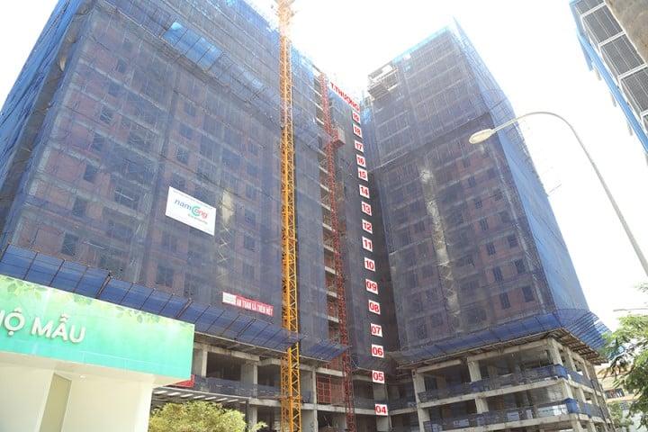 Block A của dự án đang được hoàn thiện