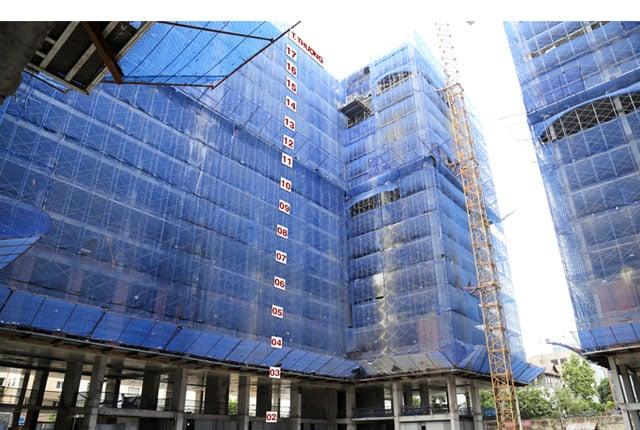 Đã hoàn thành đổ bê tông tầng thượng block B Sky Center
