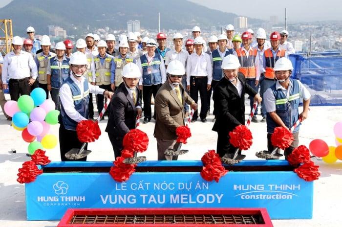 Lễ cất nốc dự án Vũng Tàu Melody ngày 04/07/2016
