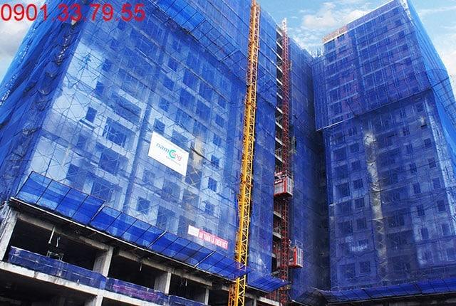 Thi công cột sàn tầng 16 - Block A căn hộ Florita