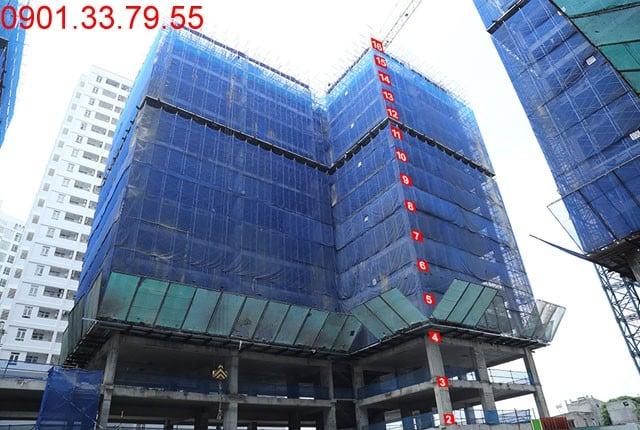 Thi công cột sàn tầng 16 - Block A căn hộ Florita quận 7