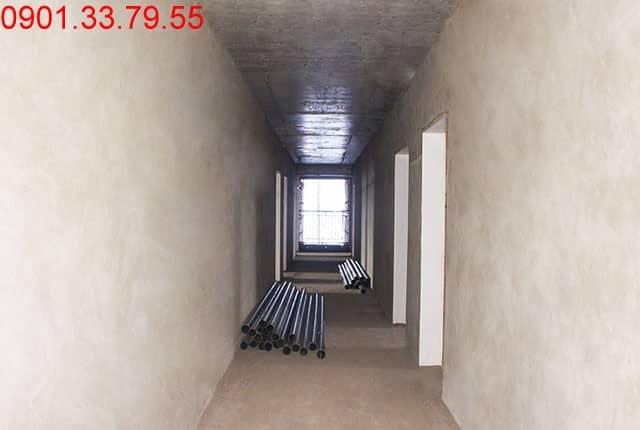 Bã sơn tường bao căn hộ tầng 12 - block A