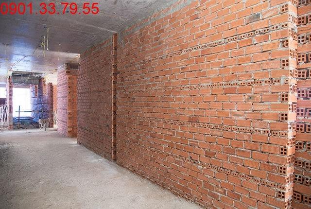 Xây tường bao và vách ngăn căn hộ tầng 5 block A; tầng 6 block B; tầng 8 block C; và tầng 9 block D Sky Center Phổ Quang