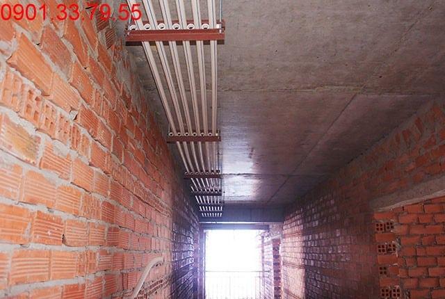 Thi công hệ thống nước cấp tầng 14 - block B