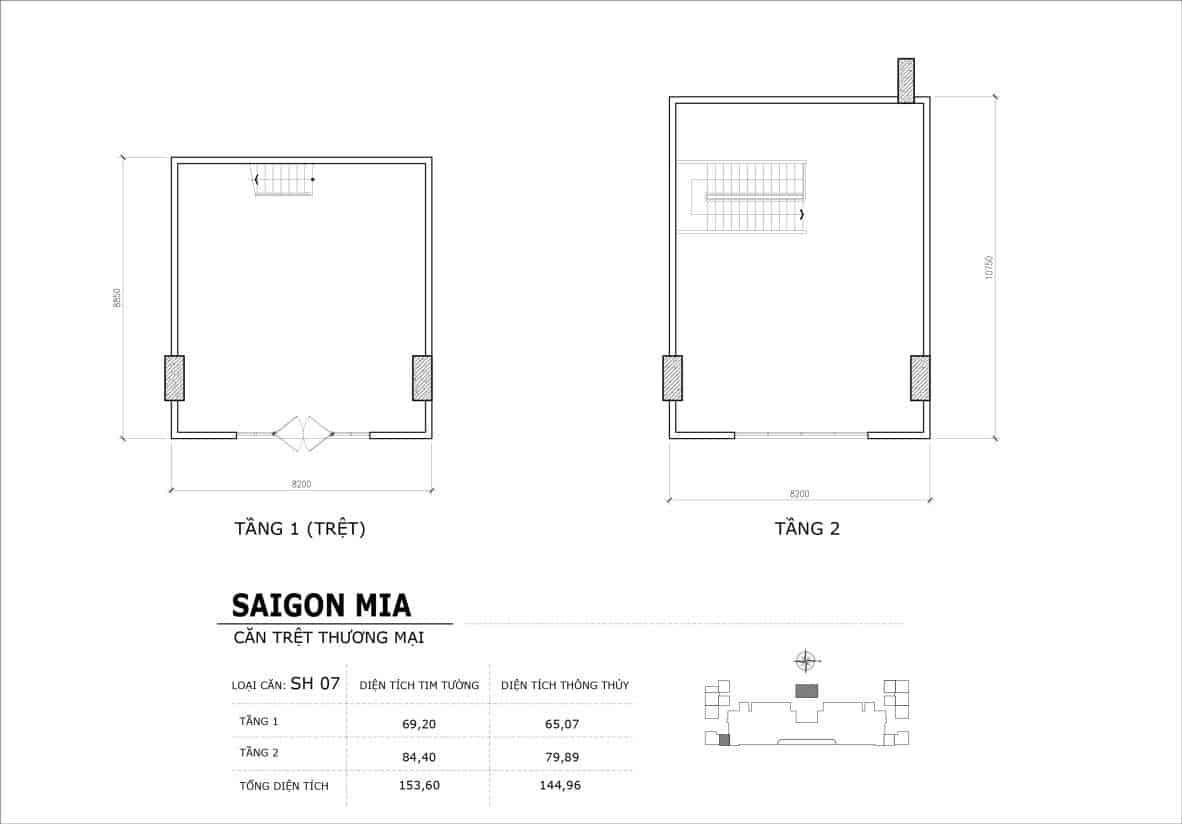 Chi tiết thiết kế căn SH7 Shophouse Sài gòn Mia