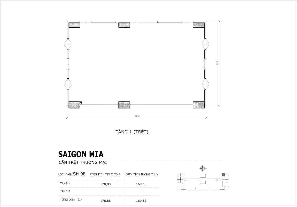 Chi tiết thiết kế căn SH8 Shophouse Sài gòn Mia