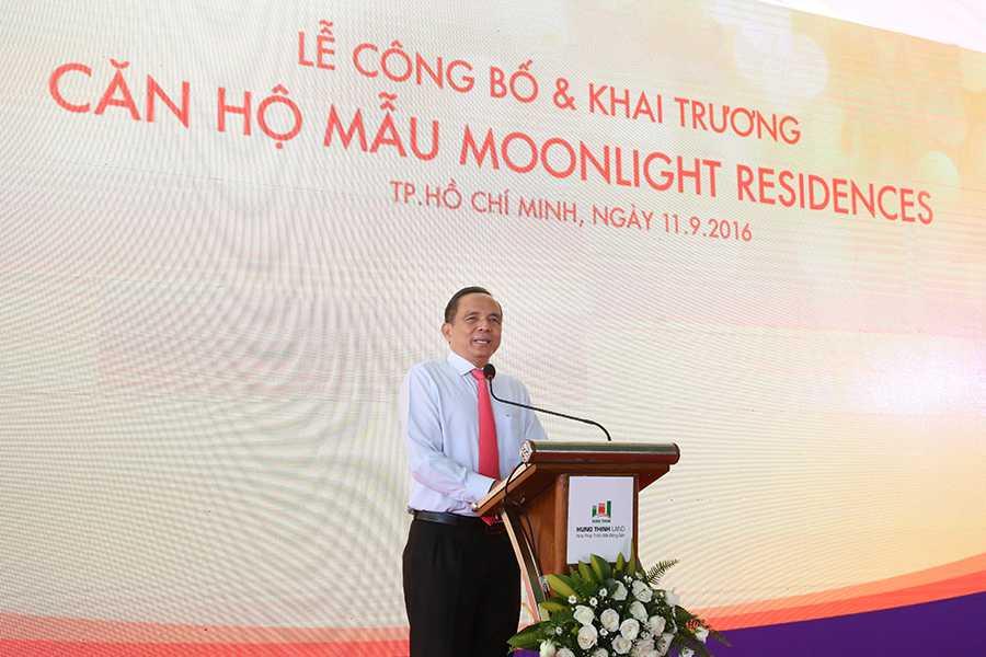 Ông Lê Hoàng Châu - Chủ tịch Hiệp hội Bất động sản TP.HCM cũng đến tham dự chương trình và chia sẻ về những giá trị của bất động sản khu Đông nói chung cũng như dự án Moonlight Residences nói riêng