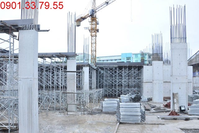 Thi công cột sàn tầng 1 - Block A can ho 9 View