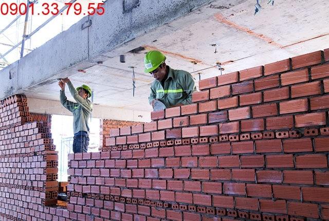 Thi công tường bao căn hộ đến tầng 5 - Block A Căn hộ Florita Himlam