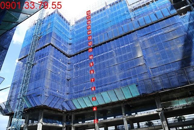 Thi công cốt thép sàn tầng 18 - Block B Căn hộ Florita quận 7