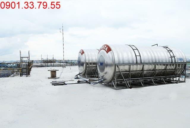 Lắp đặt bồn nước và cột thu lôi block A,B,C,D chung cư Sky Center