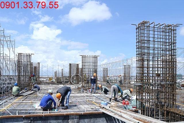 Thi công cốt thép sàn tầng 18 - Block B Căn hộ Florita Hưng Thịnh
