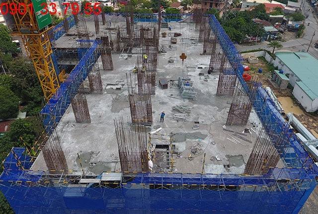 Thi công cột sàn tầng 8 block B Lavita Garden Hưng Thịnh
