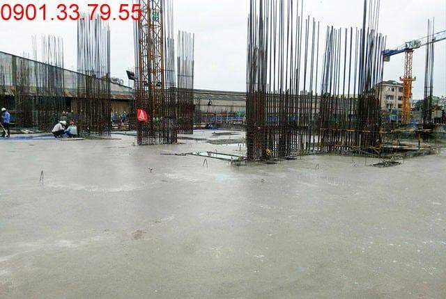 Đổ bê tông sàn tầng 1 - Block C can ho 9View quận 9