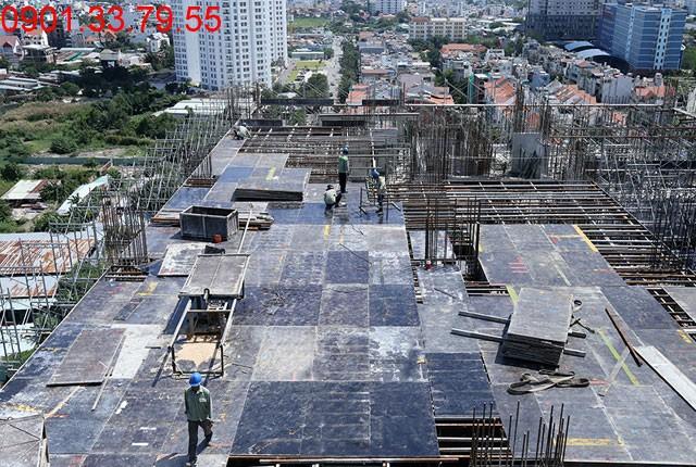 Thi công cốt thép sàn tầng 16 - Block C Dự án Florita