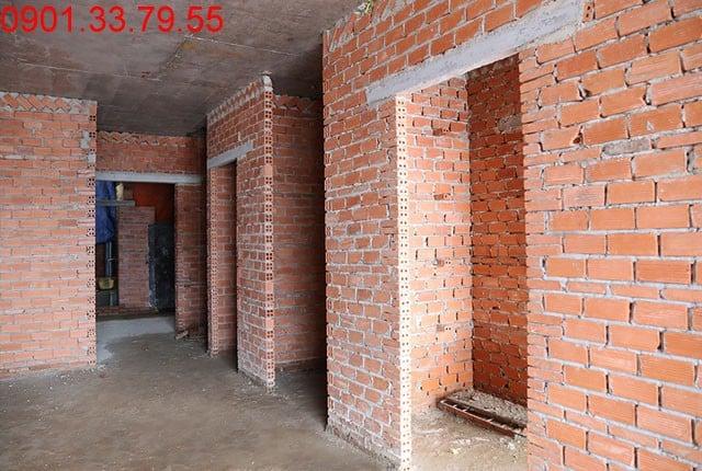 Xây tường bao căn hộ đến tầng 7 block A, B và đến tầng 16 block C, D dự án Sky Center Hưng Thịnh