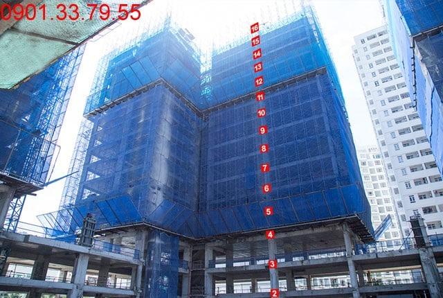 Thi công cốp pha sàn tầng 16 - Block D Dự án Florita quận 7