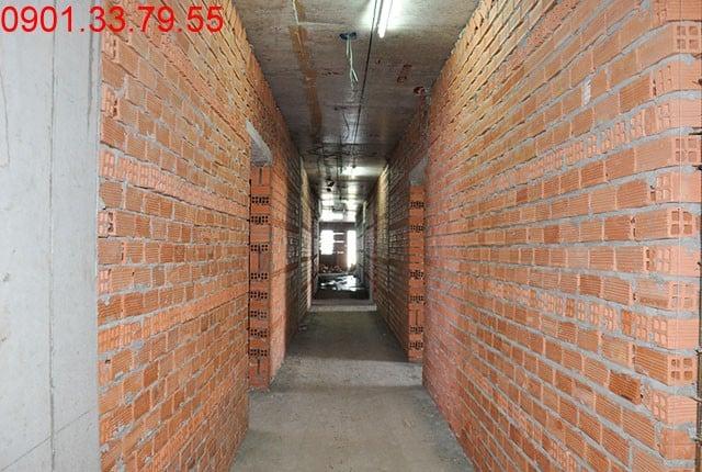 Thi công tường bao căn hộ đến tầng 7 - Block B căn hộ Florita Hưng Thịnh
