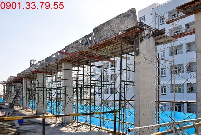 Thi công dàn mái hố PIT thang máy - Block A dự án Florita