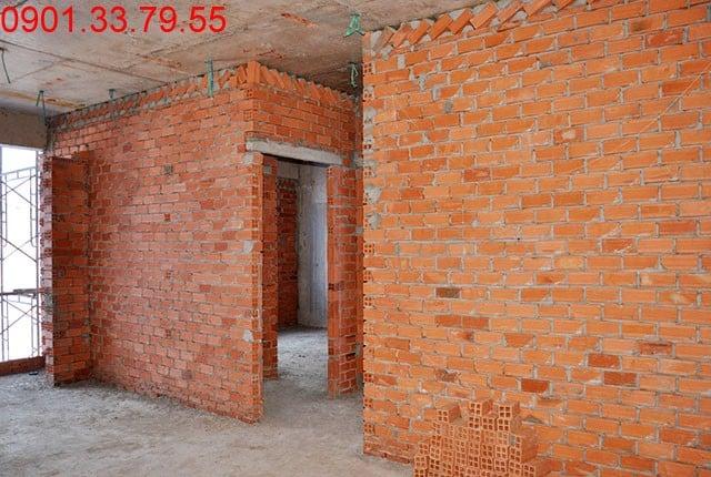 Thi công tường bao căn hộ đến tầng 9 - Block A Florita Hưng Thịnh