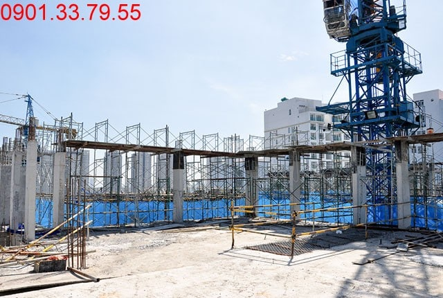 Thi công dàn mái hố PIT thang máy - Block B dự án Florita Hưng Thịnh
