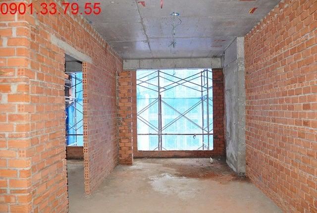 Hình ảnh thi công Đã hoàn thành tường bao căn hộ block C, D Sky Center Phổ Quang