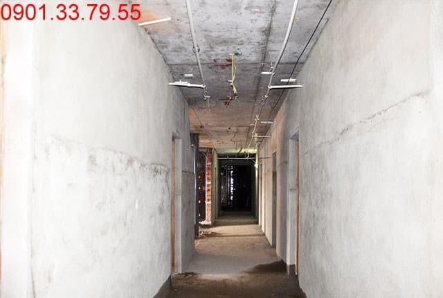 Hình ảnh thi công Tô trong căn hộ tầng 16 block C, D can ho Sky Center
