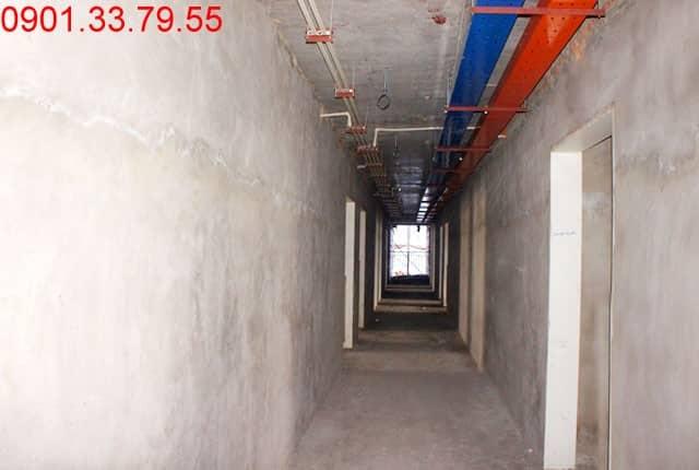 Hoàn thành tô tường căn hộ - block A Melody Residences Âu Cơ