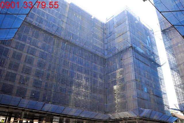 Hình ảnh thi cônng tổng thể block B Sky Center Phổ Quang