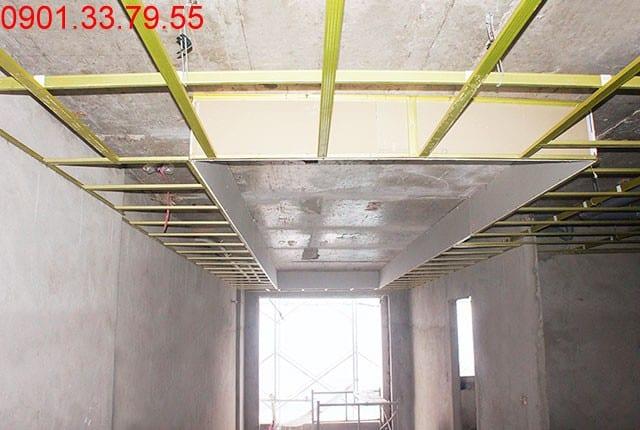 Đóng khung trần thạch cao tầng 16 - block A Melody Residences Tân Phú
