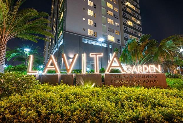 Cảnh quan mặt tiền khu căn hộ Lavita Garden