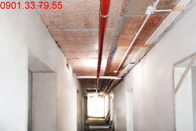 Lắp đặt hệ thống nước cấp từ tầng 6 đến tầng 21 block A, tầng 5 đến tầng 22 block B Melody Vũng Tàu