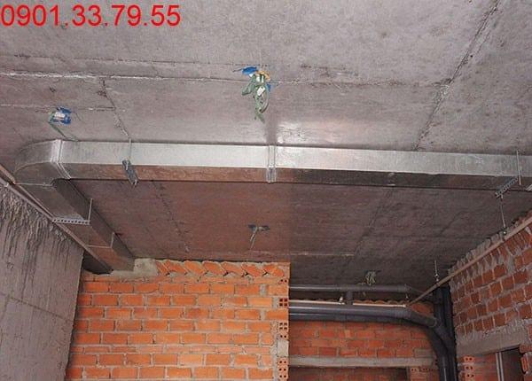 Đã hoàn thành đường ống thông gió tầng 10 block A, B, C, D dự án Sky Center Phổ Quang