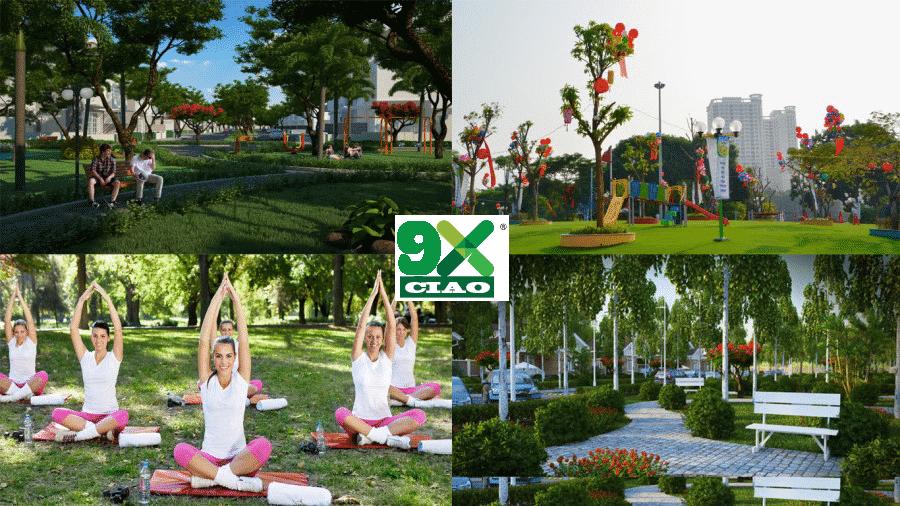 Công viên nội khu dự án 9X Ciao