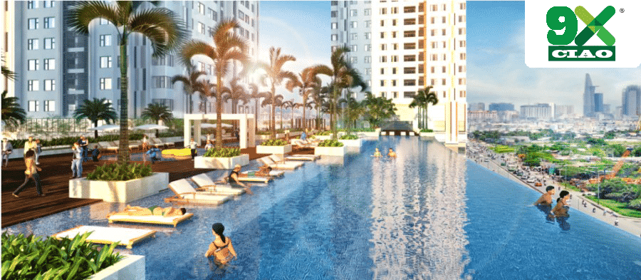 Hồ bơi nội khu dự án 9X Ciao Hưng Thịnh
