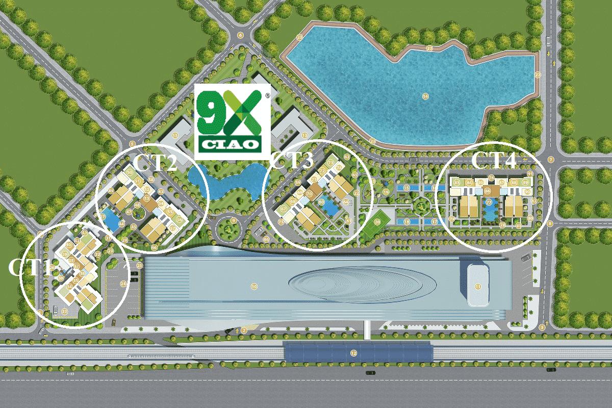 mặt bằng tổng thề dự án 9X Ciao