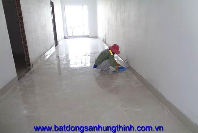 Ốp lát sàn từ tầng 10 đến tầng 14, tầng 18 block A; từ tầng 6 đến tầng 14 block B du an Melody Vũng Tàu