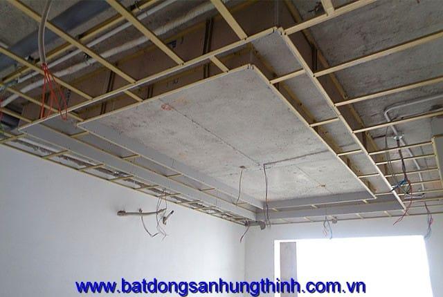 Đóng trần thạch cao tầng 15 block B dự án Vũng Tàu Melody