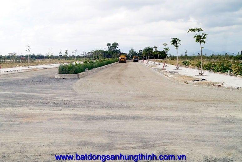 Công tác thi công làm nền đường D6 - khu D16 Golden Bay Bãi Dài Nha Trang