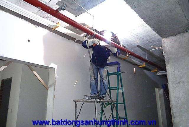 Lắp đặt hệ thống PCCC từ tầng 5 đến tầng 25 block A dự án Vũng Tàu Melody Hưng Thịnh