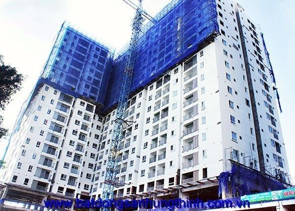 Sơn nước tầng 11 - block A can ho Melody Residences Au co