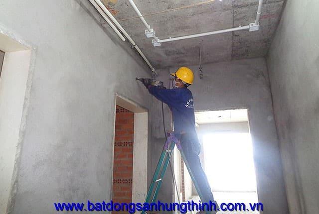 Lắp đặt hệ thống cấp nước từ tầng 6 đến tầng 24 block A, B can ho Melody Vũng Tàu