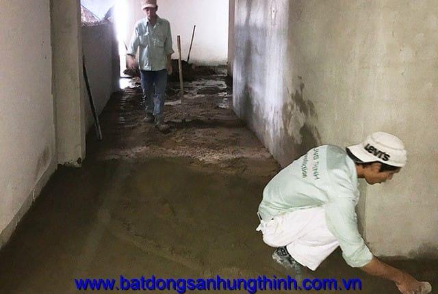 Công tác cán nền hành lang tầng 7, 8, 10, 11, 12 block A du an chung cư Melody Vũng Tàu